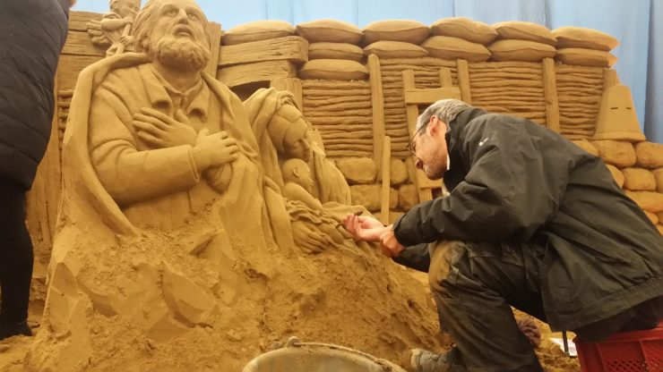 Presepe di sabbia a Lignano