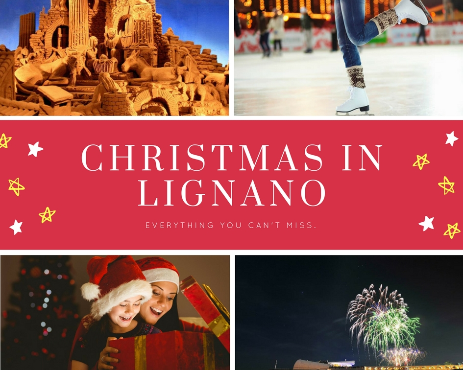 Christmas in Lignano and sand nativity
