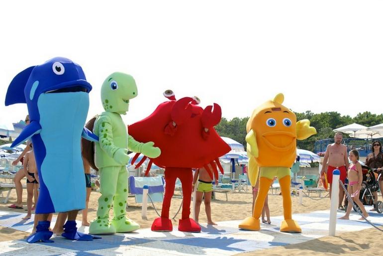 Mascotte Spiaggia Lignano Riviera