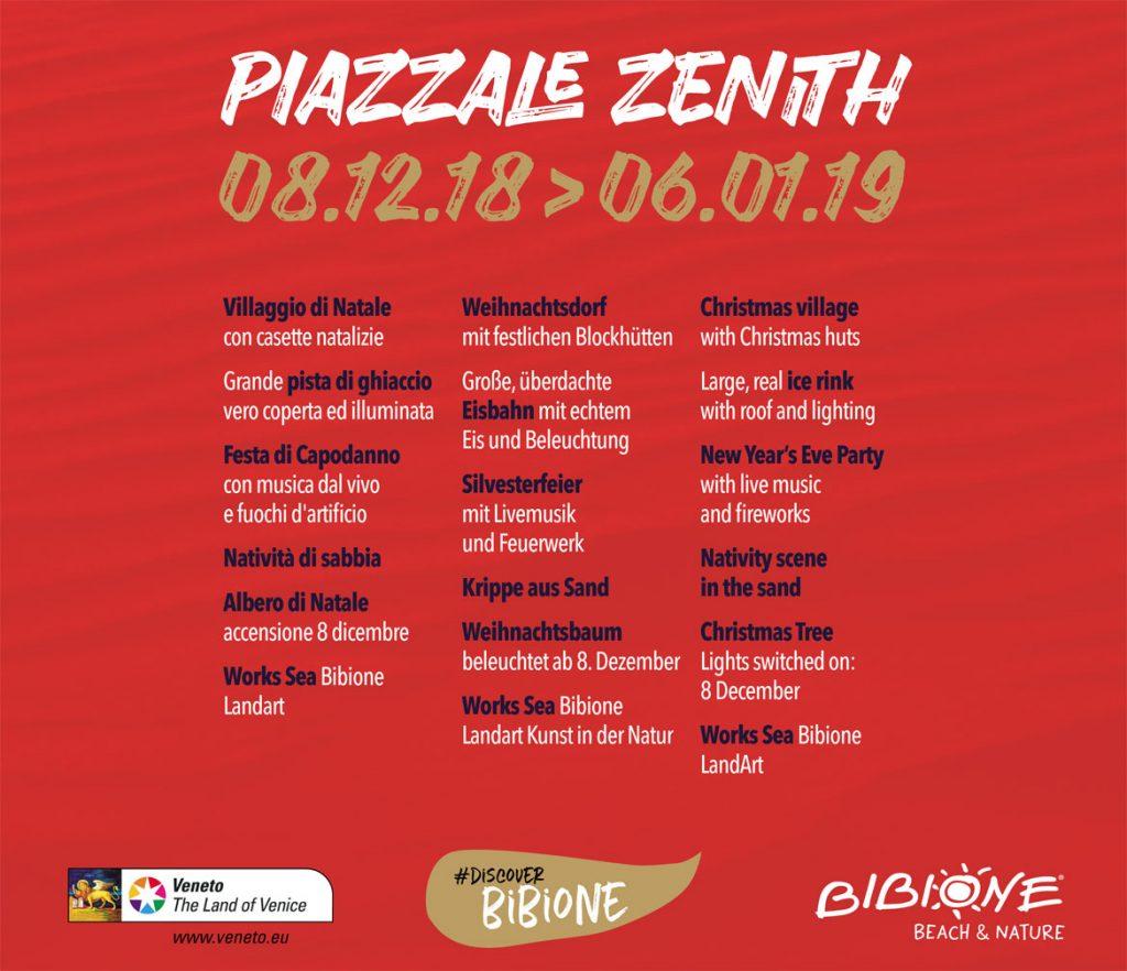 Programma Piazzale Zenith Bibione